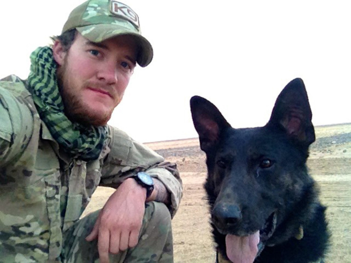 Sgt. Wess Brown and MWD Isky