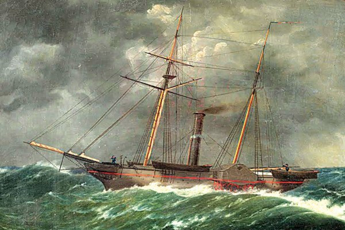An 1852 painting of the Robert J. Walker by W.A. K. Martin. Courtesy of The Mariners' Museum.