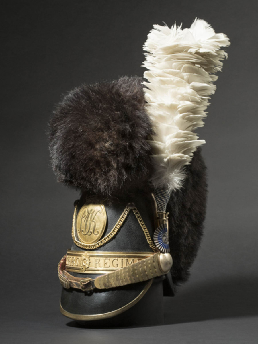 A very rare helmet M 1818 for Chevaulegers officers, Bavaria. SP: 19000 Euros