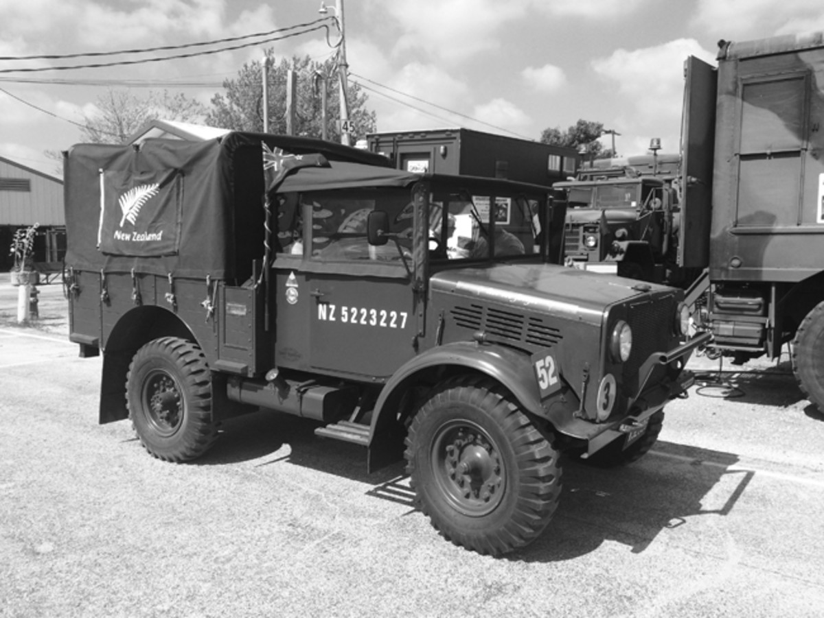 One of the most unusual vehicles to make the trip was a New Zealand-built military truck.
