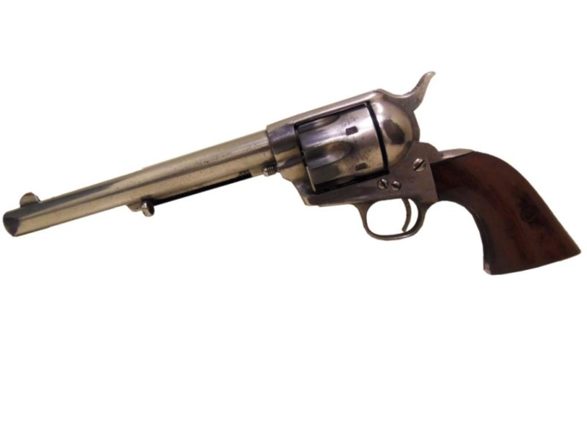Rare Transitional Colt SAA 1873 Pinched Frame #154. Estimate: $250,000 - $350,000.