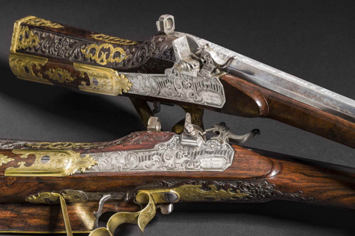 A pair of deluxe rifles with chemical locks, Joseph Reisinger, Wels, circa 1820. SP: 28000 Euros