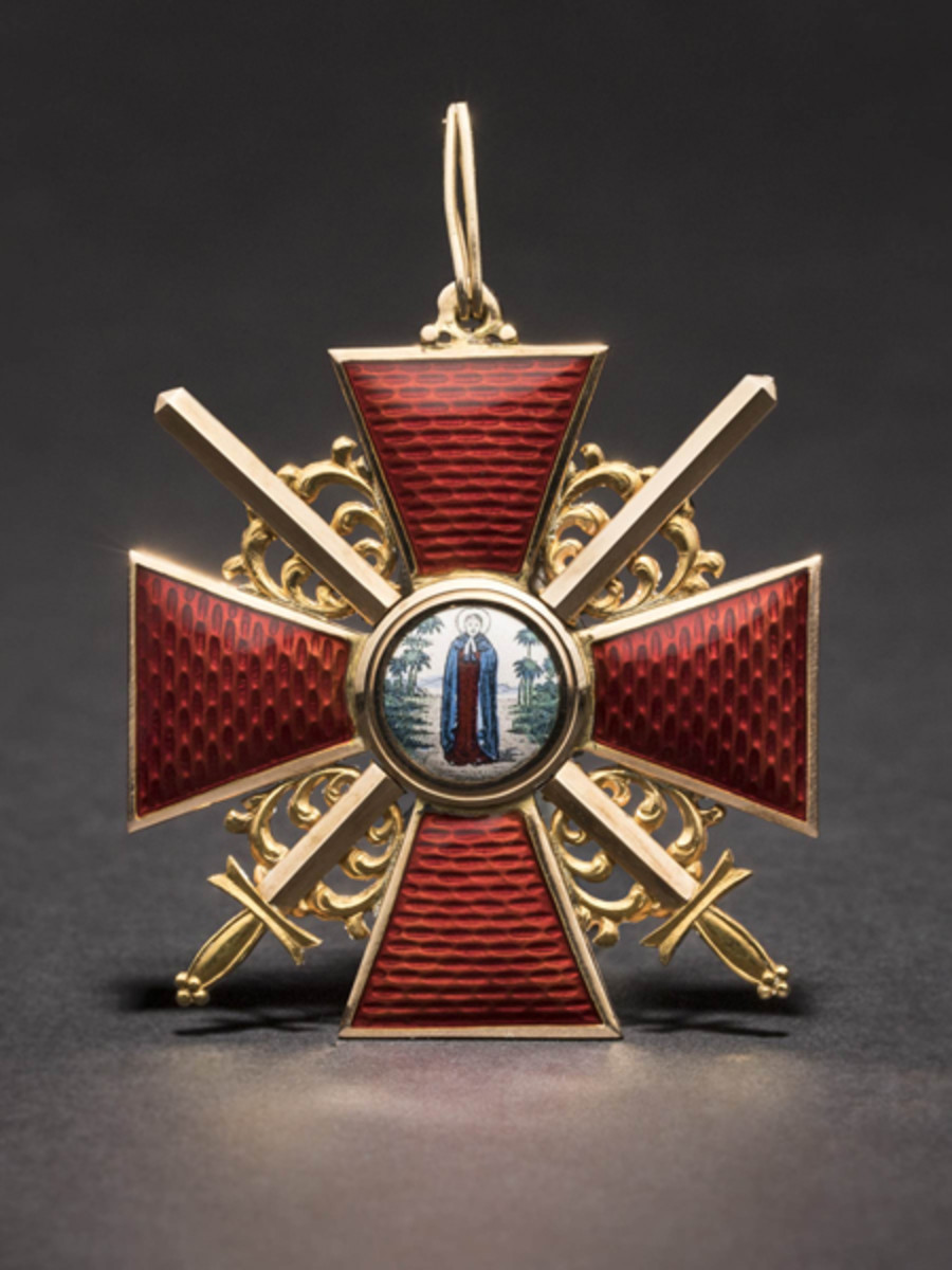 Order of St. Anna, a Cross1st Class with Swords,Russia, circa 1910. SP: 10000 Euros