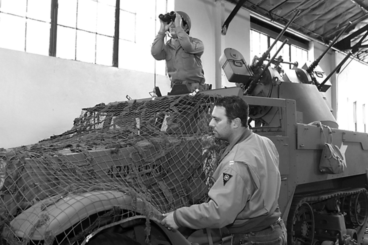The Air Defense Museum staff was delighted to receive the M10. Stephen's trailer would be the first of at least five needed to complete their displays. When the restoration is finished, the Museum intends to load it with drum magazines and display it with their M16 half-track. US Army