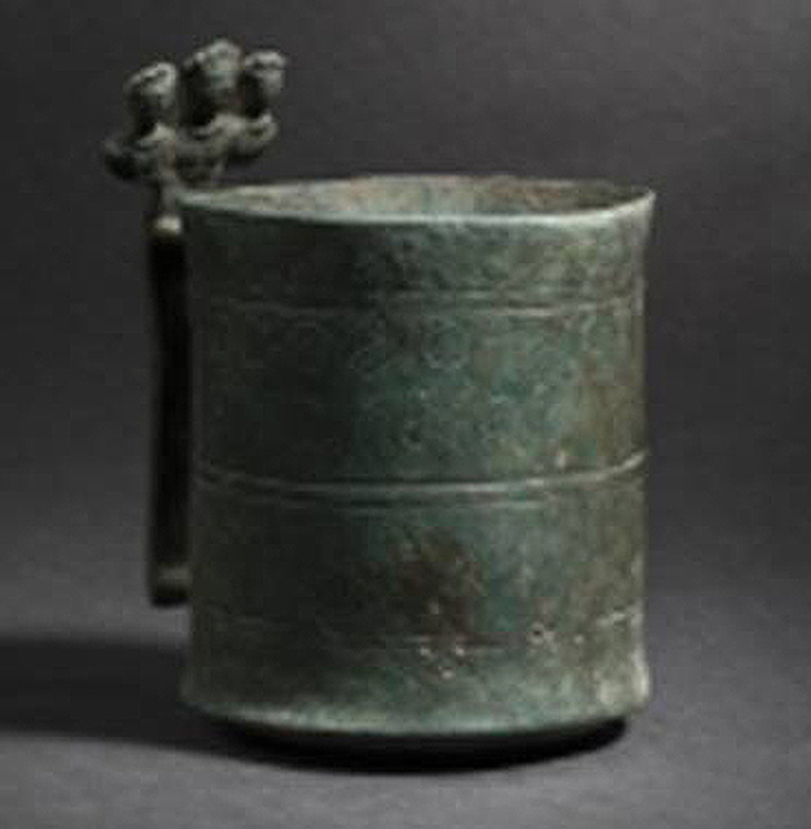 Late Roman measuring cup, inscription revealing its origins during the years 402 – 408 A.D