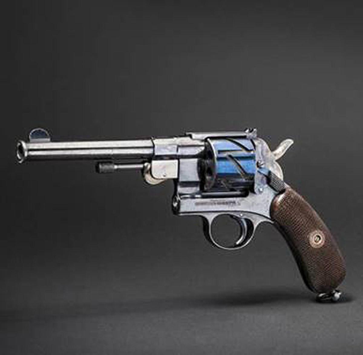 Collection Johann Lux, first-issue Mauser Model 1878, also known as the 'zig-zag revolver'.