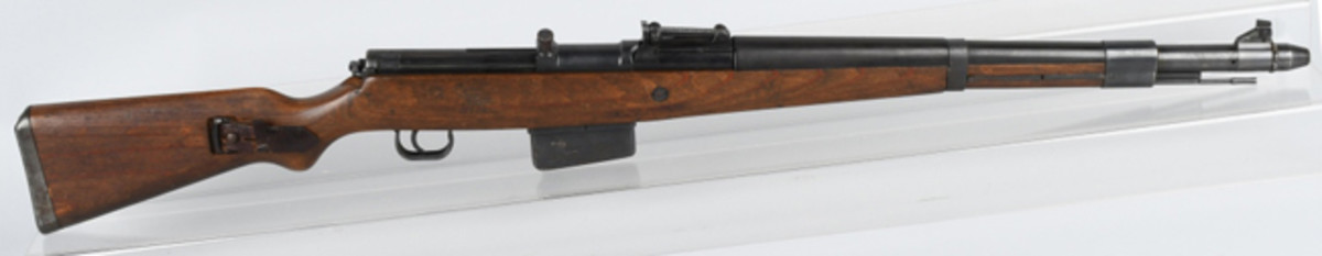 https://www.liveauctioneers.com/item/61937796_german-gewehr-41-792x57mm-rifle-sniperEarly World War II German Gewehr G41 sniper rifle. Photo - Milestone Auctions