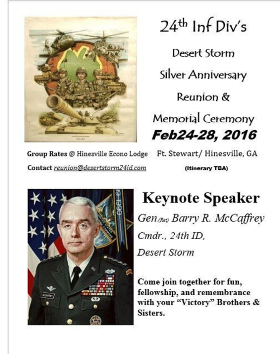 General Barry McCaffrey to Speak at Memorial Ceremony Feb 26, 2016 (PRNewsFoto/Veterans of the 24th Infantry)