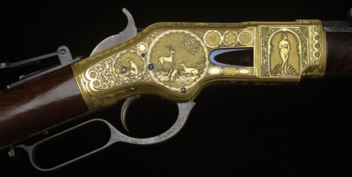 High Relief Engraved Winchester Model 1866 Lever Action Rifle from the Ray Bentley Collection