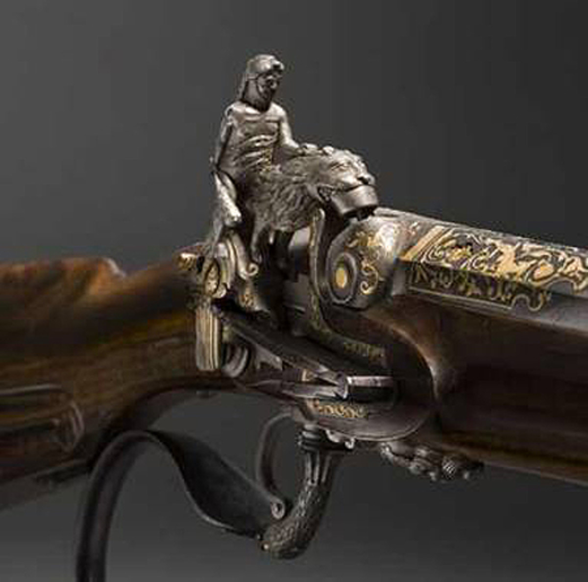 Spanish percussion flintlock was made in the middle of the 19th century.