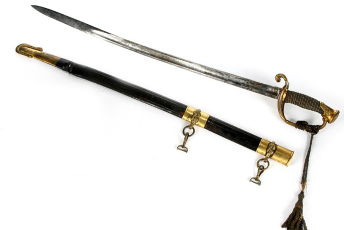 USN Civil War Sword With Scabbard By C. Roby & Co.
