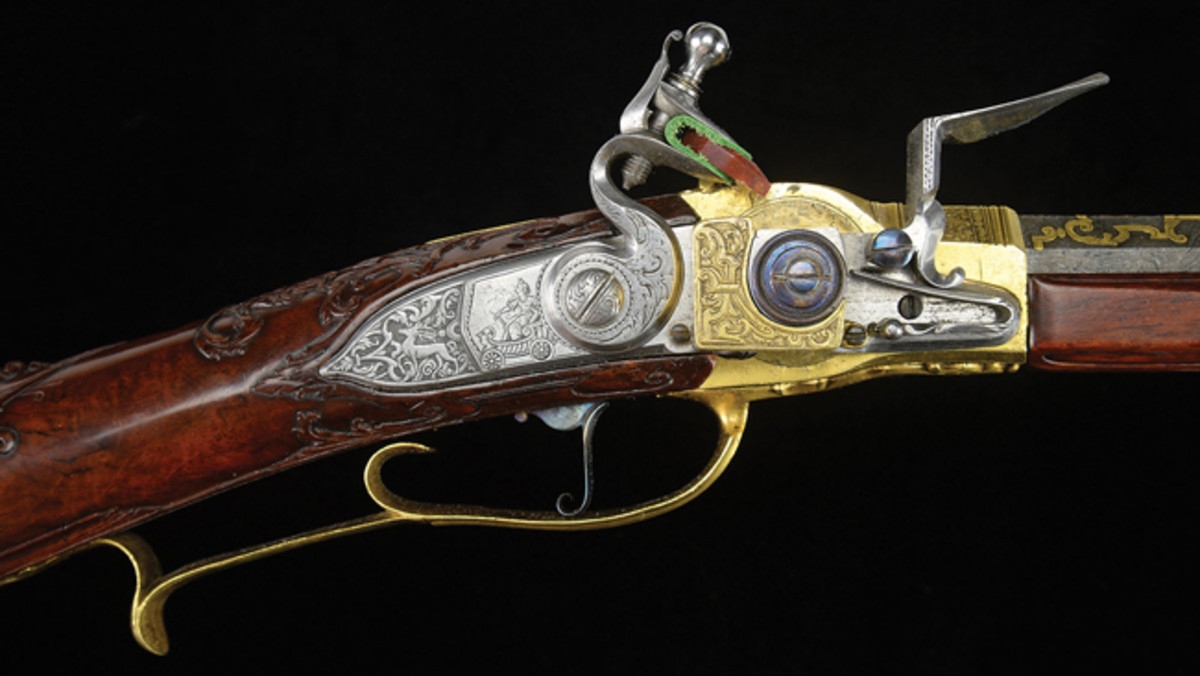 Lorenzoni-System Flintlock Repeating Rifle by Sebastian Hauschka Made for & Presented to King Louis XV of France, circa 1735