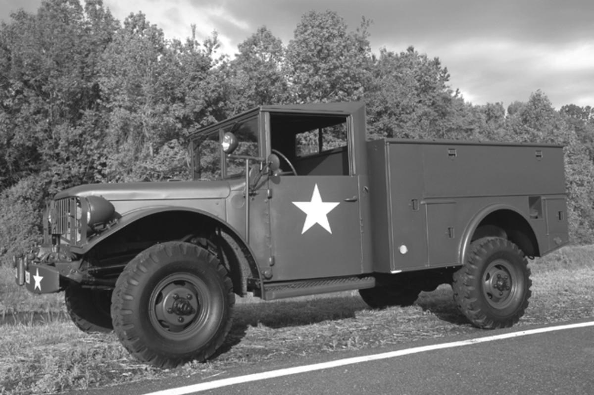 Mark Goodman's rare Dodge V41 telephone maintenance truck. Photo by David Doyle