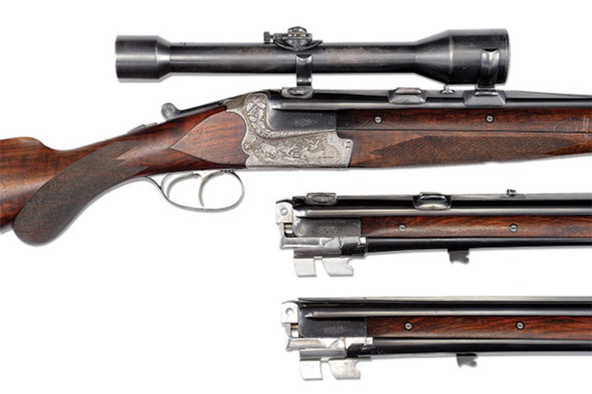 Herman Goering's Merkel 201E Over-Under Blitz Ejector Double Rifle