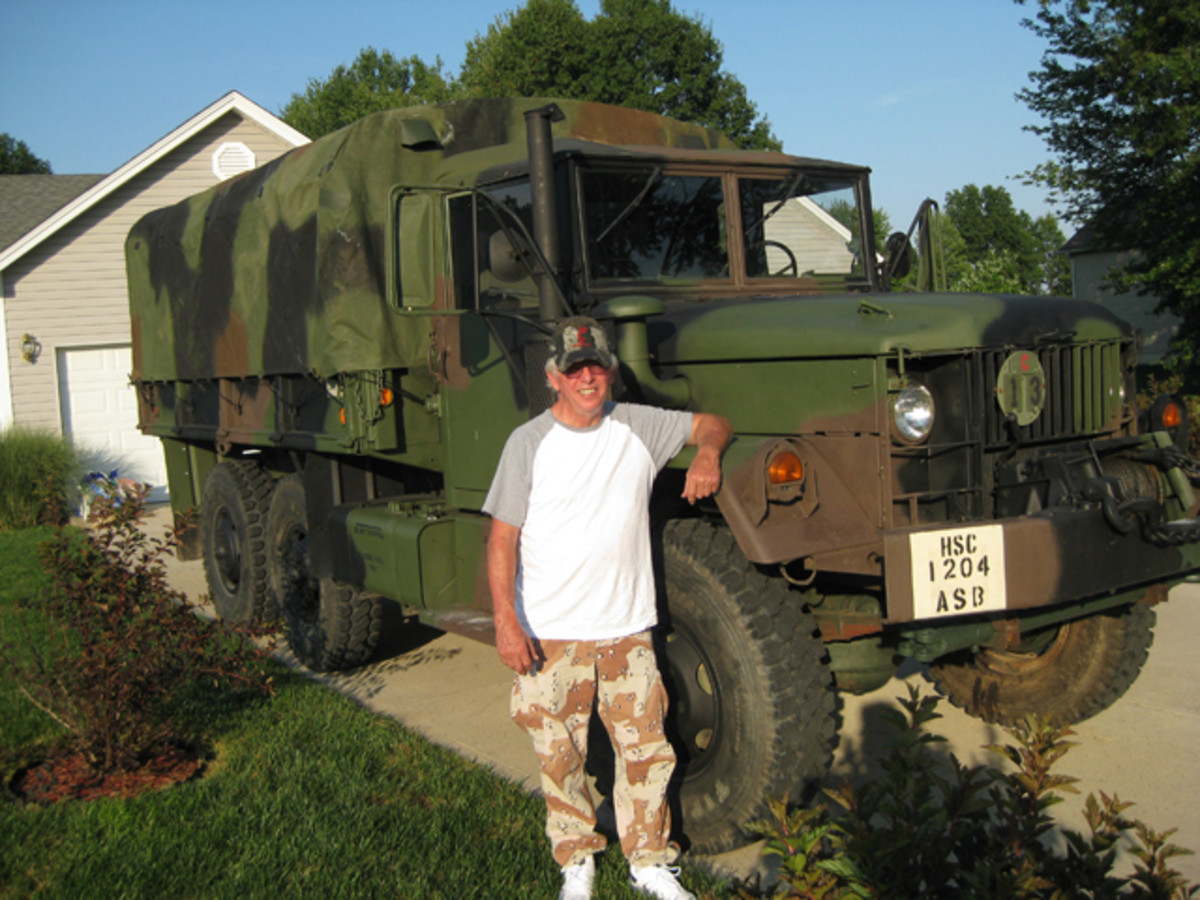 Ralph Jones had a reunion of sorts when he found an M35 in West Virginia. Both veterans, Ralph served in Vietnam from 1969-1970, the same time frame when the Deuce entered service.