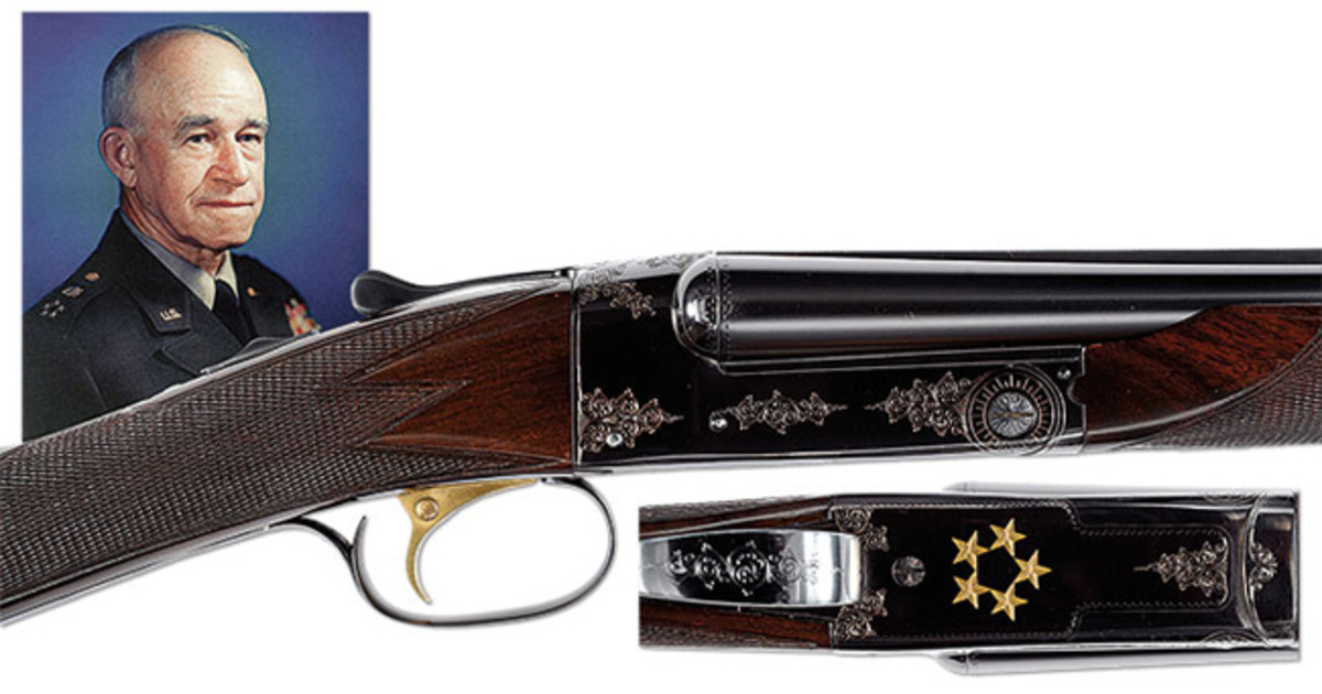Winchester Model 21 Custom Shotgun Presented to Five Star General and First Chairman of the Joint Chiefs of Staff, Omar Bradley