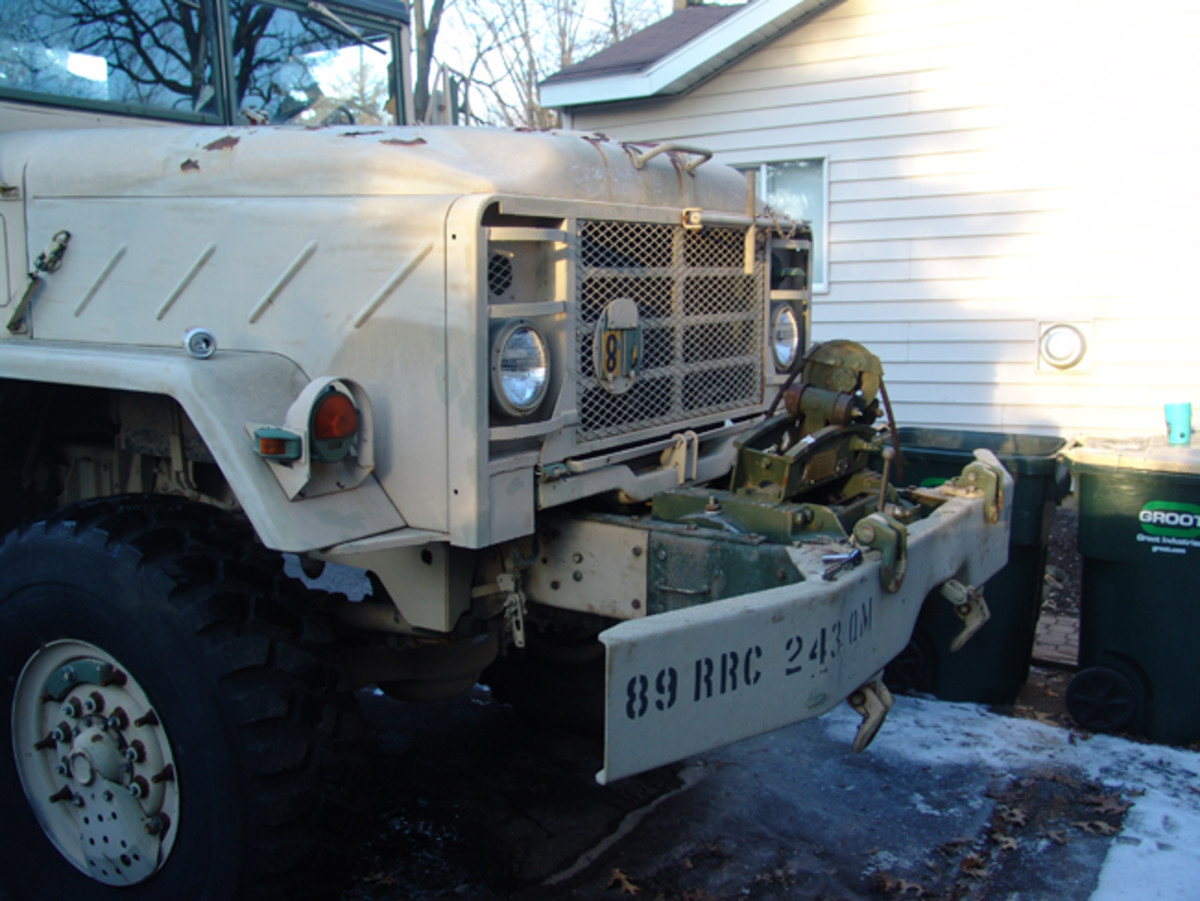 Not the type to leave anything alone, Chuck started buying parts and making modifications. First came a winch, then some LED lighting.
