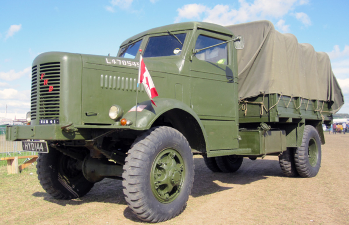 This HAR-01, which is owned by Roger Staddon, is believed to be one of 17.60 only two of this kind of FWD left in existence in this country. Dating from 1942 the vehicle is believed to have been used by British & Canadian forces in a radar train convoy before moving into the timber haulage business in 1947.