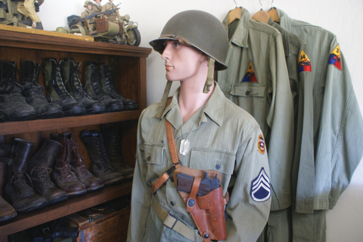 "My Great Uncle James ""Pap"" Brown's WWII HBTs and equipment."