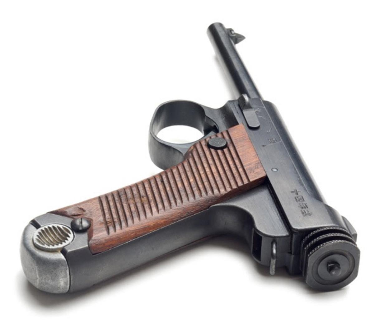 image of Nambu courtesy of Wikipedia and image of Nambu Type 14 pistol courtesy of Oleg Volk