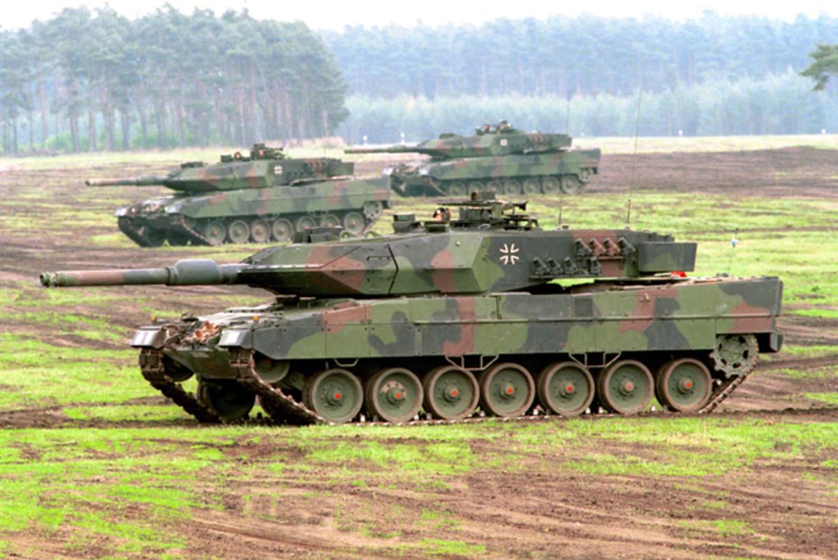Leopard 2A6, with the new Rheinmetall 120mm L55 gun