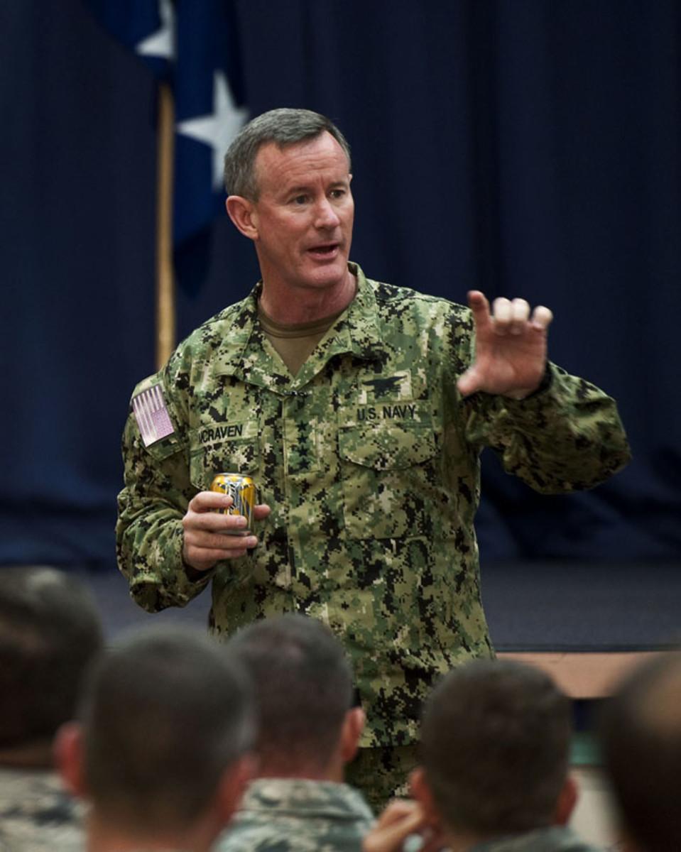 US SOCOM Commander, Admiral William McRaven in Navy Working Uniform Type III