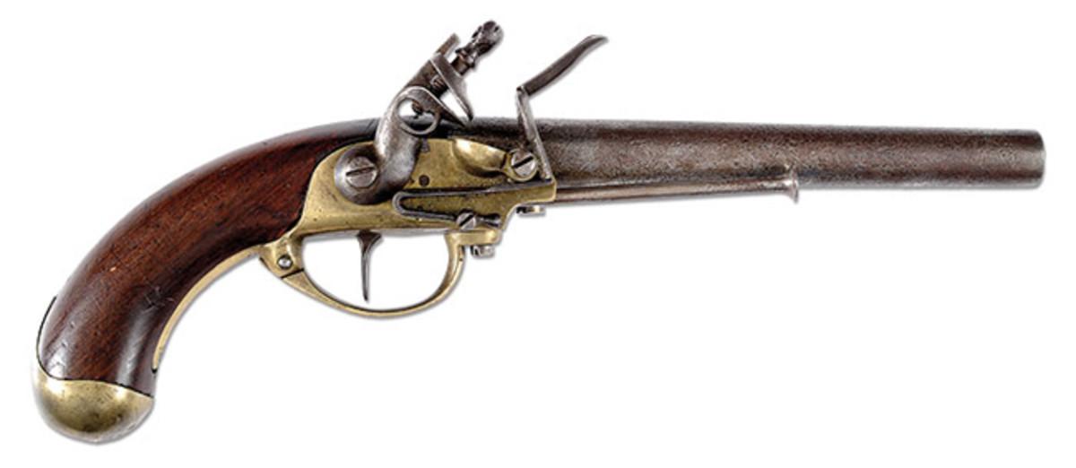 North & Cheney Flintlock Pistol, SN 816 (Racker Collection)