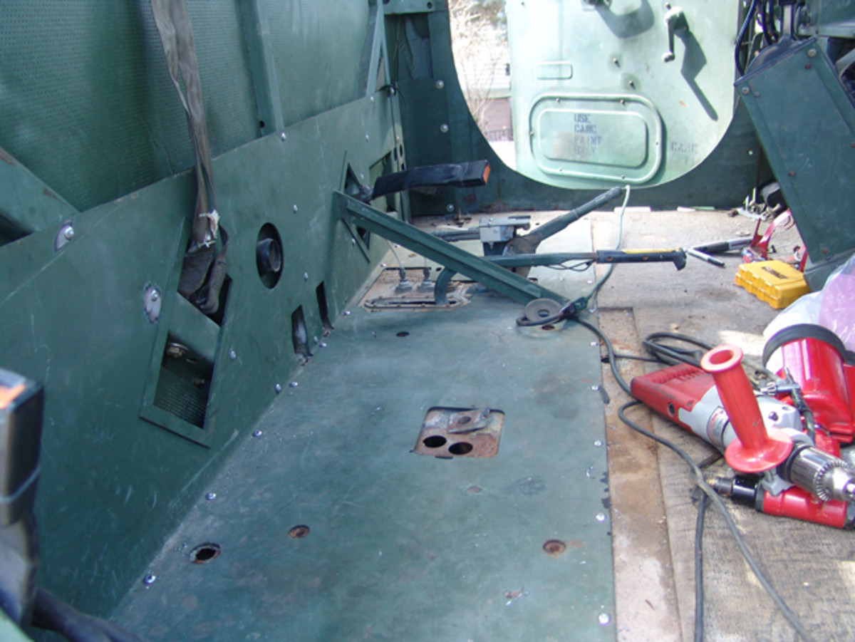 Adding the LWS required reinforcing the cab.