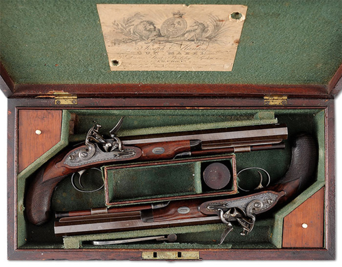 Pair of Cased Joseph Manton Flintlock Dueling Pistols