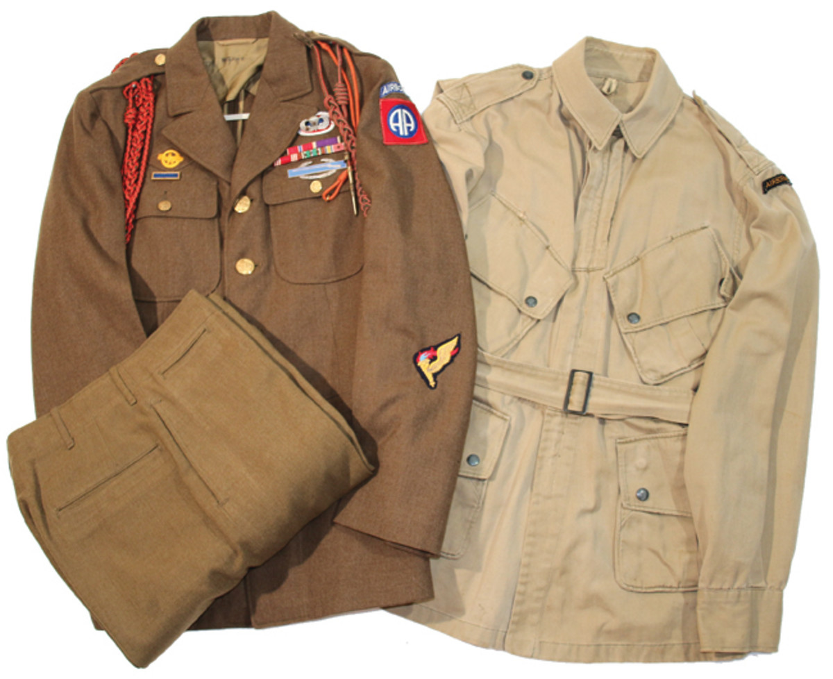 "Bruce bought this outstanding WWII US Army 82nd Airborne 505th Parachute Infantry uniform grouping from the 505th veteran ""Pathfinder Pvt. Frank Zeigel 33890661"" back in 1994."