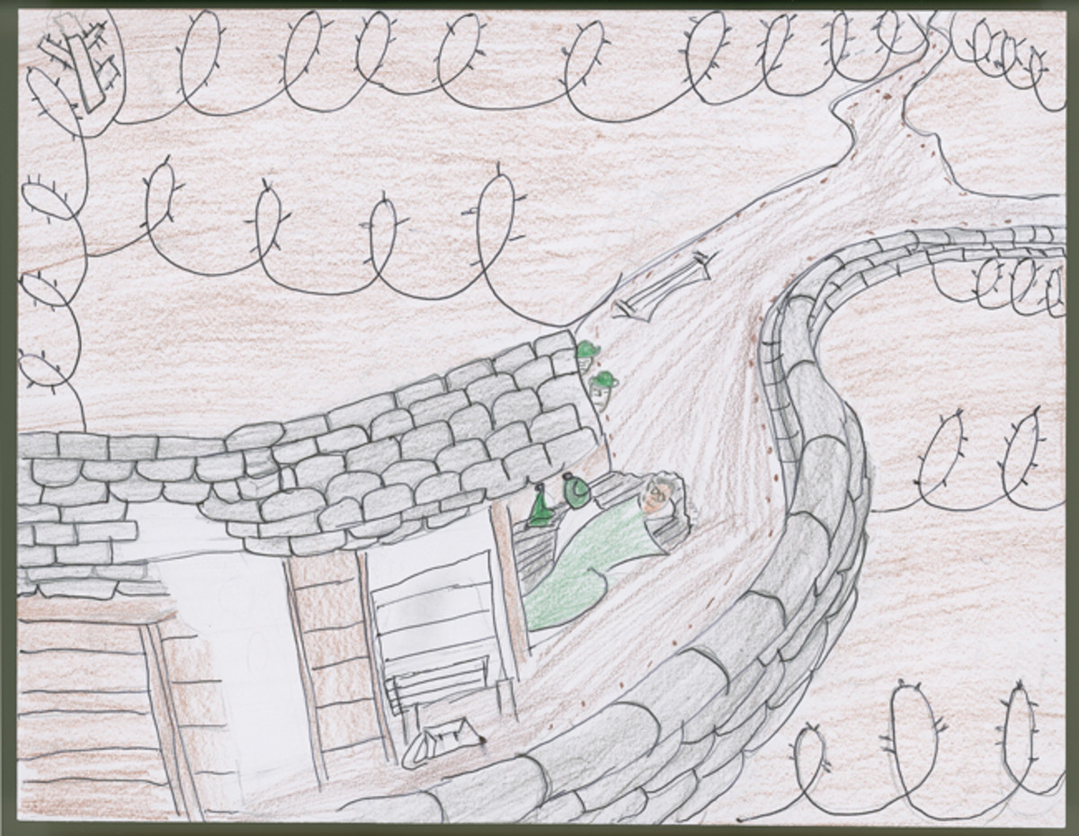 """WWI Trench Warfare,"" by Sixth Grader Shirley Delvalle Chavez."