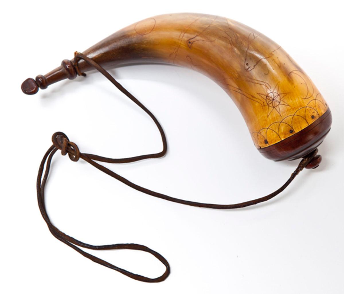 18th C. Powder Horn Named to Jeremiah Van Auken ($2,000-4,000)