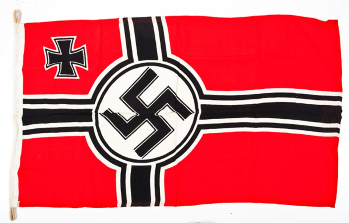 German-WWII-Kriegsmarne-(Navy)-Battle-Flag-($300-400)