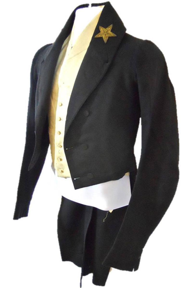 Three-piece uniform worn by United States Navy Commodore Oliver Hazard Perry (1785-1819).