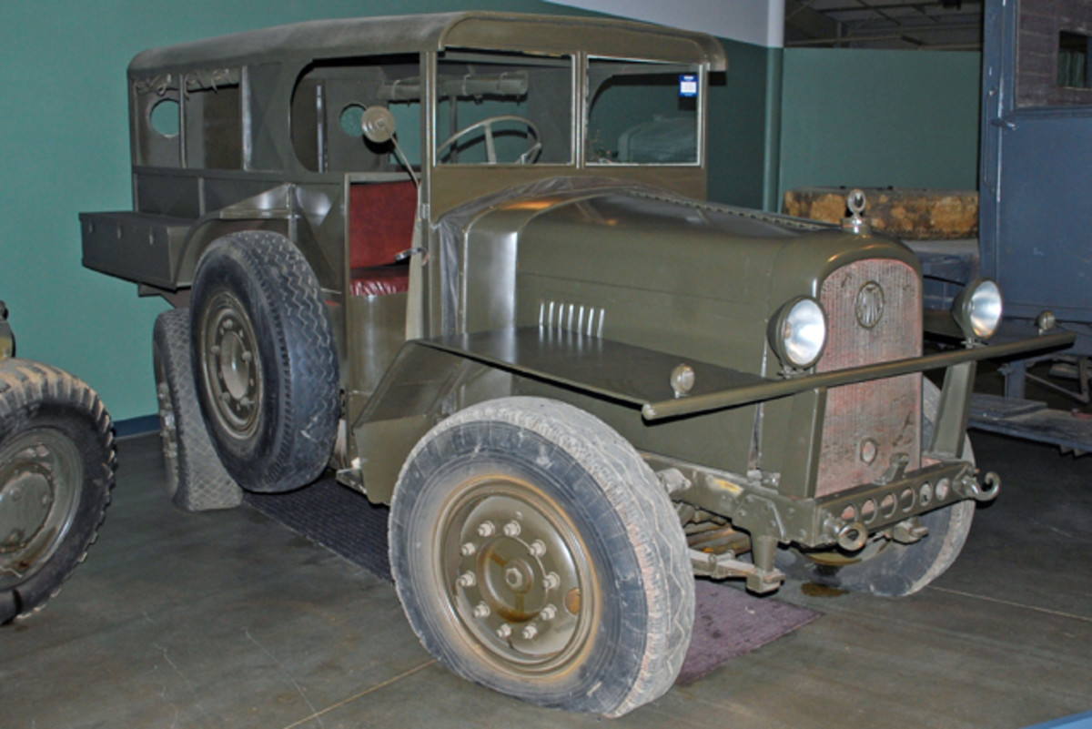 "All of the vehicles were sold ""as is, no guarantee."" This 1939 Latil M2TL6 4x4 artillery tractor obviously needed some new tires, which may have had an influence on its low selling price of $10,000."
