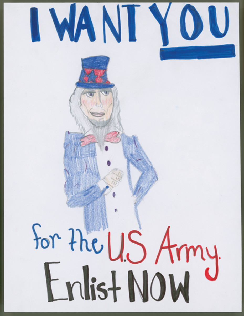 """For the US Army: Enlist Now,"" by Sylvia Tepp, 6th Grade"