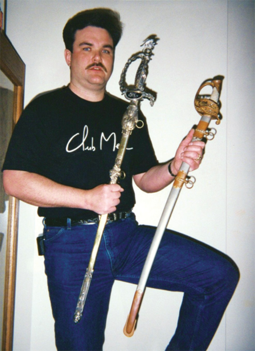 Long before the digital age, in the early 1990's, this is Bruce with one of his greatest, and historically significant finds. He is holding the two swords that belonged to famed Irish Brigade General, Michael Corcoran. Bruce obtained these straight from his descendents, who had no interest in them!