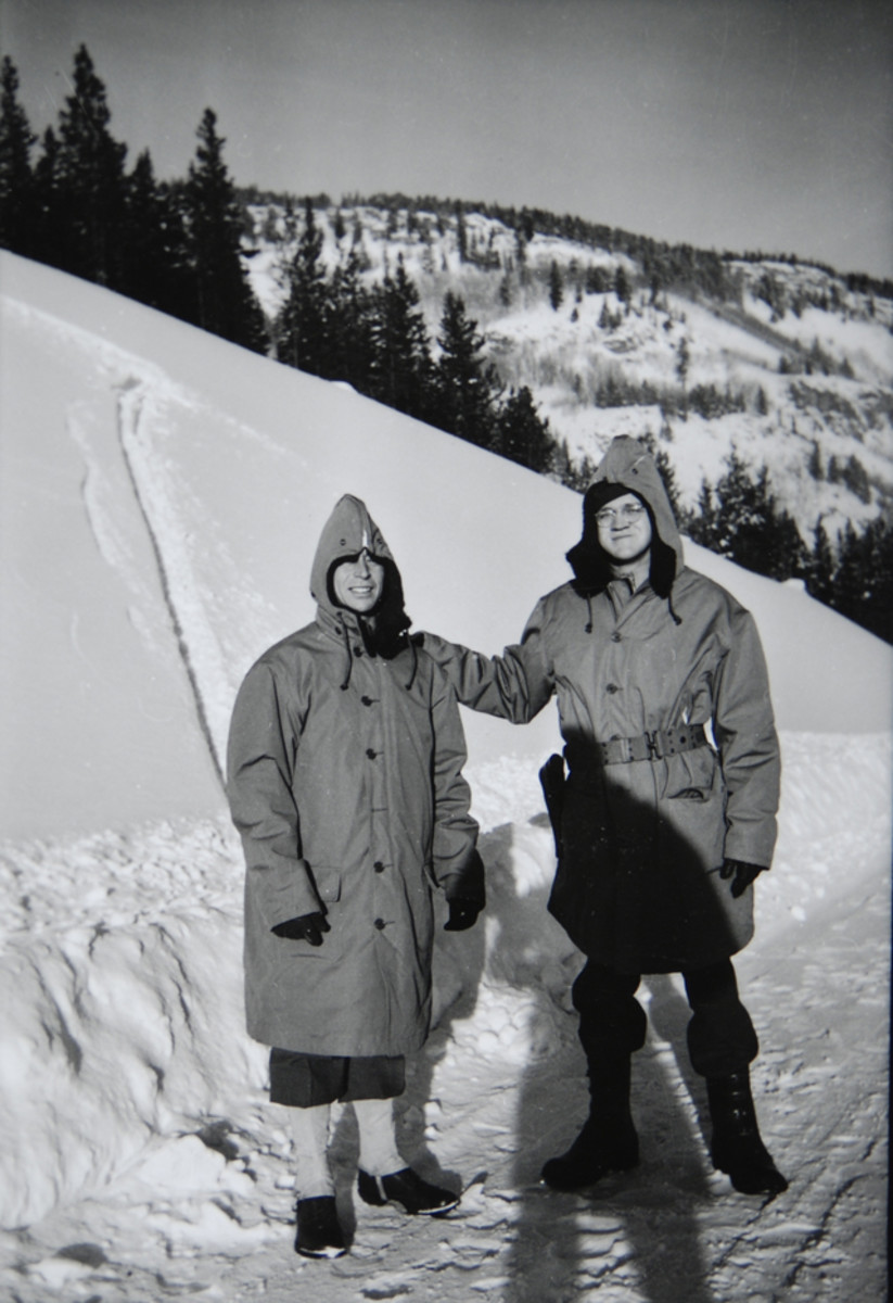 MPs on mountain patrol. According to Graf, the MPs at Camp Hale never used skis—just snow shoes.