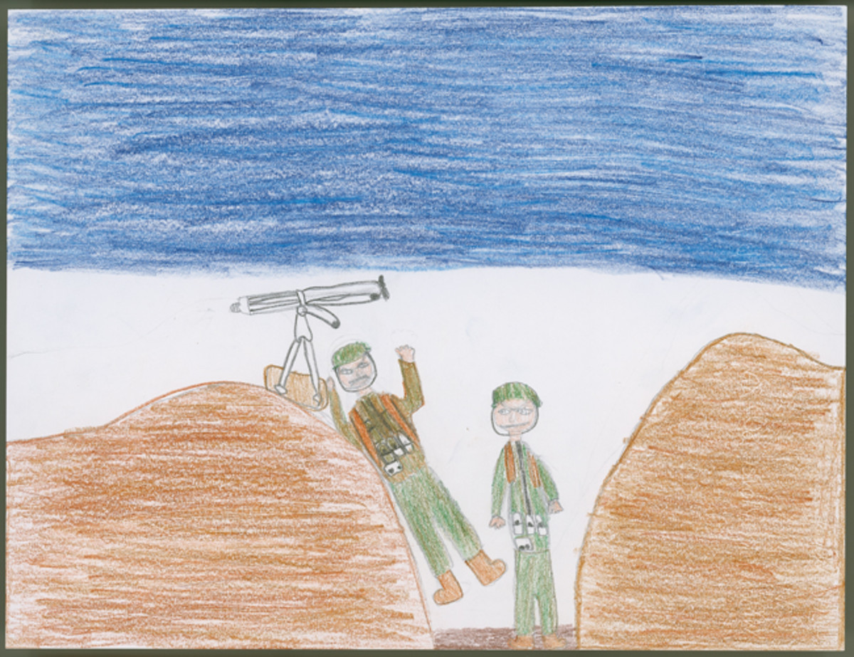 """WWI Machine Gun,"" by Caley Ulrich, 6th Grade"