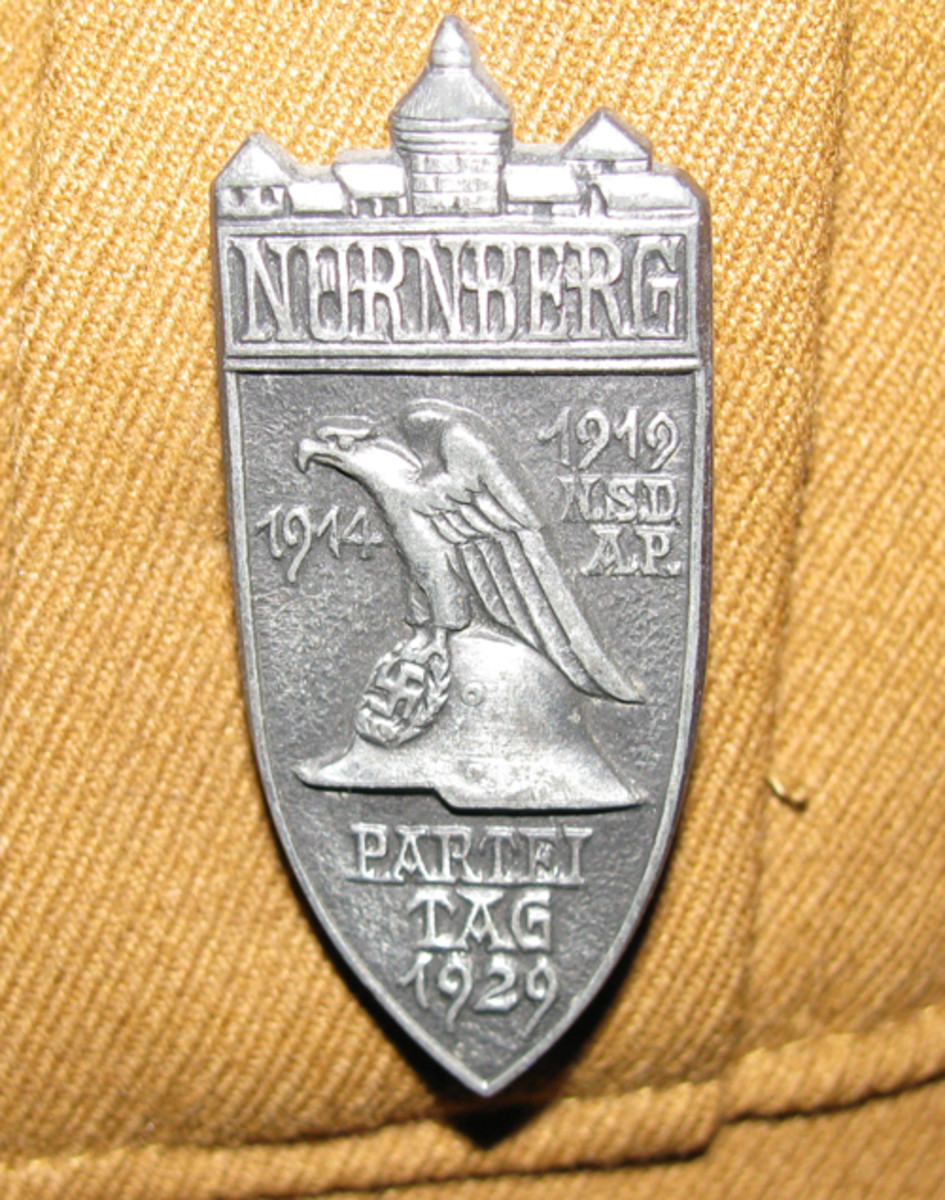 The Nurnberg badge exhibited pride in both the old city and military service.