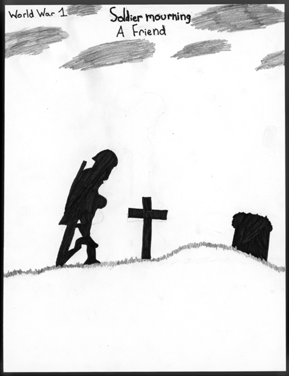"Soldier Mourning a Friend,"" by Rose Coleman, Sixth Grade."