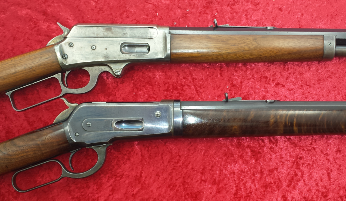Winchester 1886 & Marlin 1895 Both in 45-90 cal to be sold at Kramer's Jan 25 Auction.