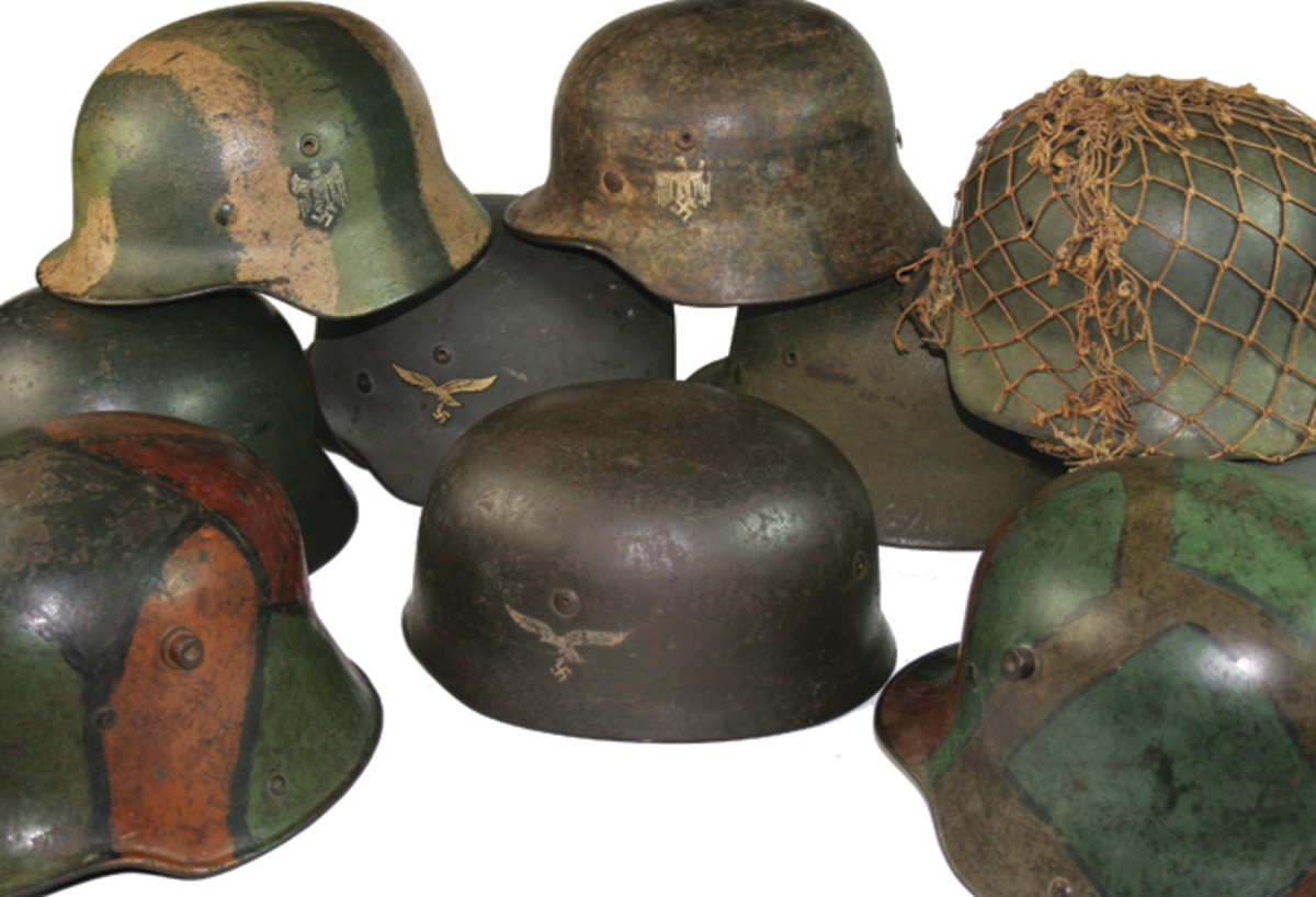 Just a small representation of the hundreds of helmets Bruce has sold through the years.