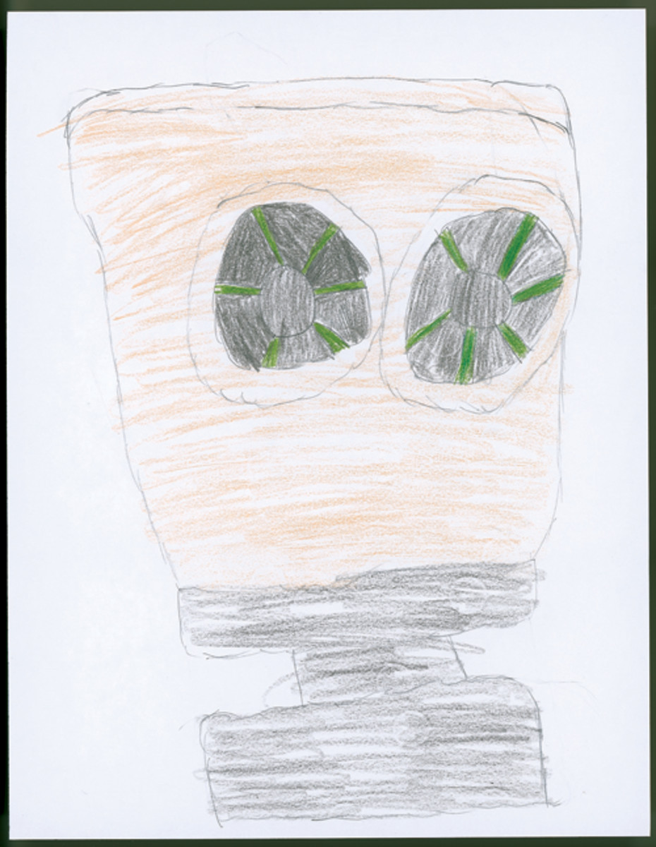 """Gas Mask,"" by Ava James, Sixth Grade."