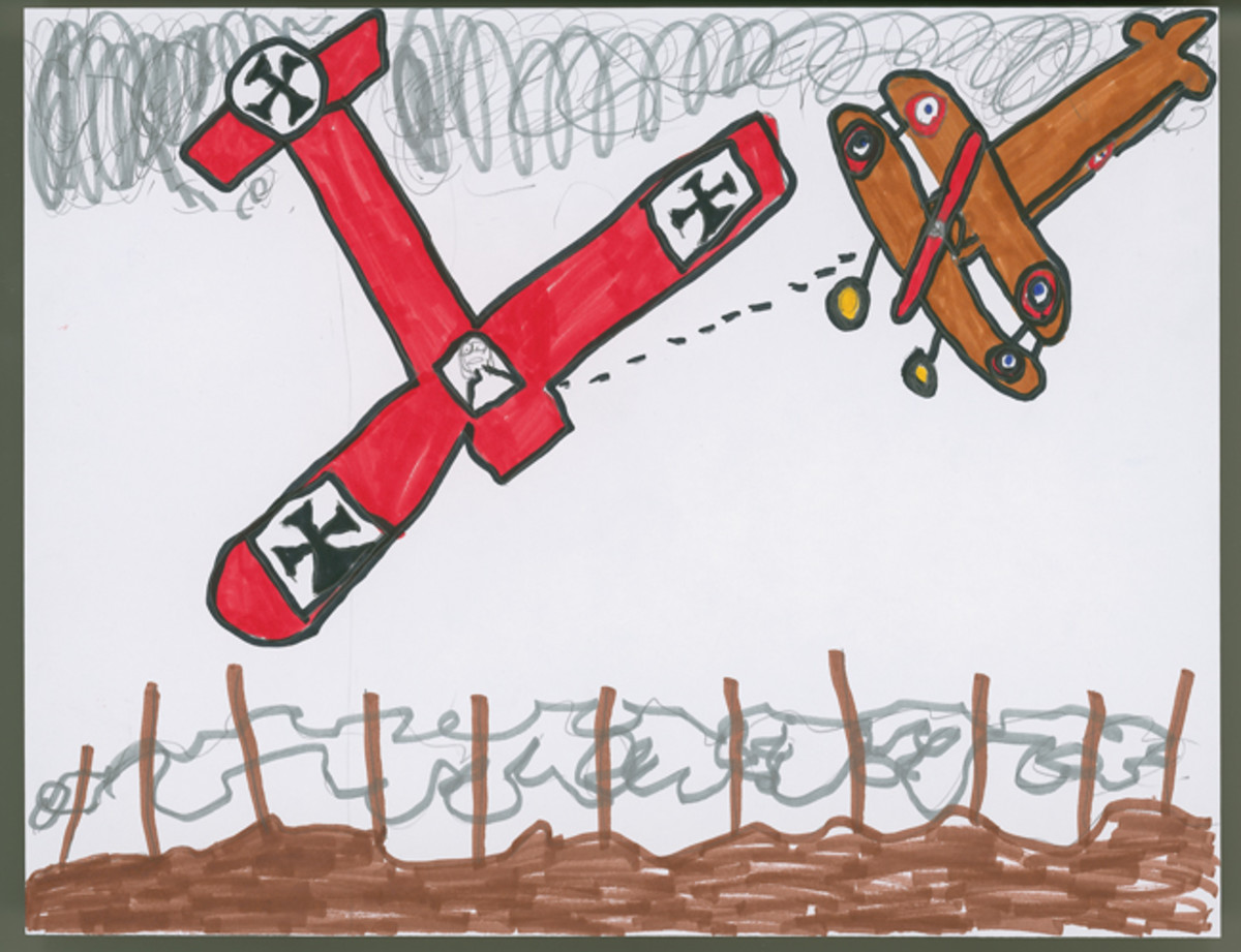 """WWI Plane Crash,"" by Jacob Ebel, Sixth Grade."