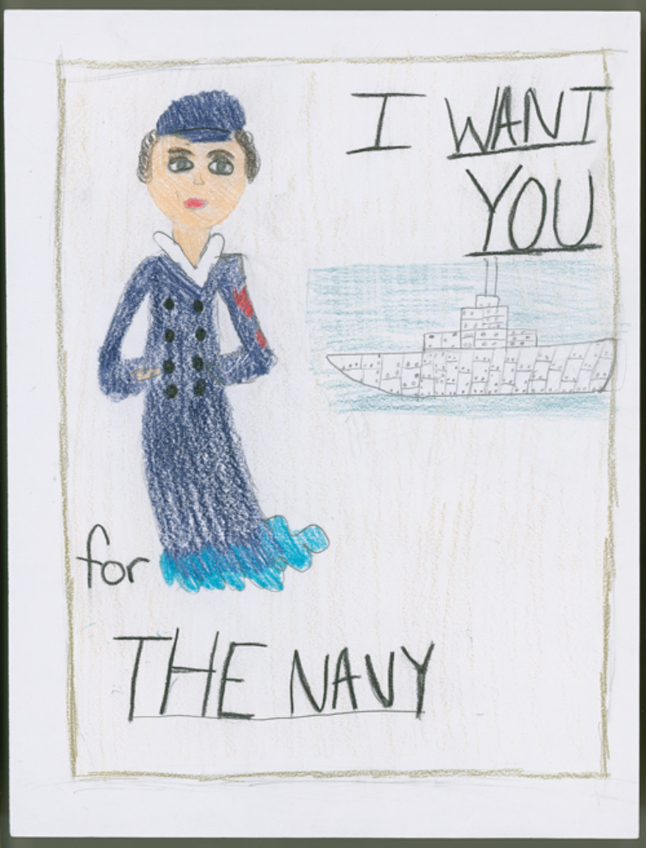 """I Want You for the Navy,"" by Allie Wisinski, 6th Grade."