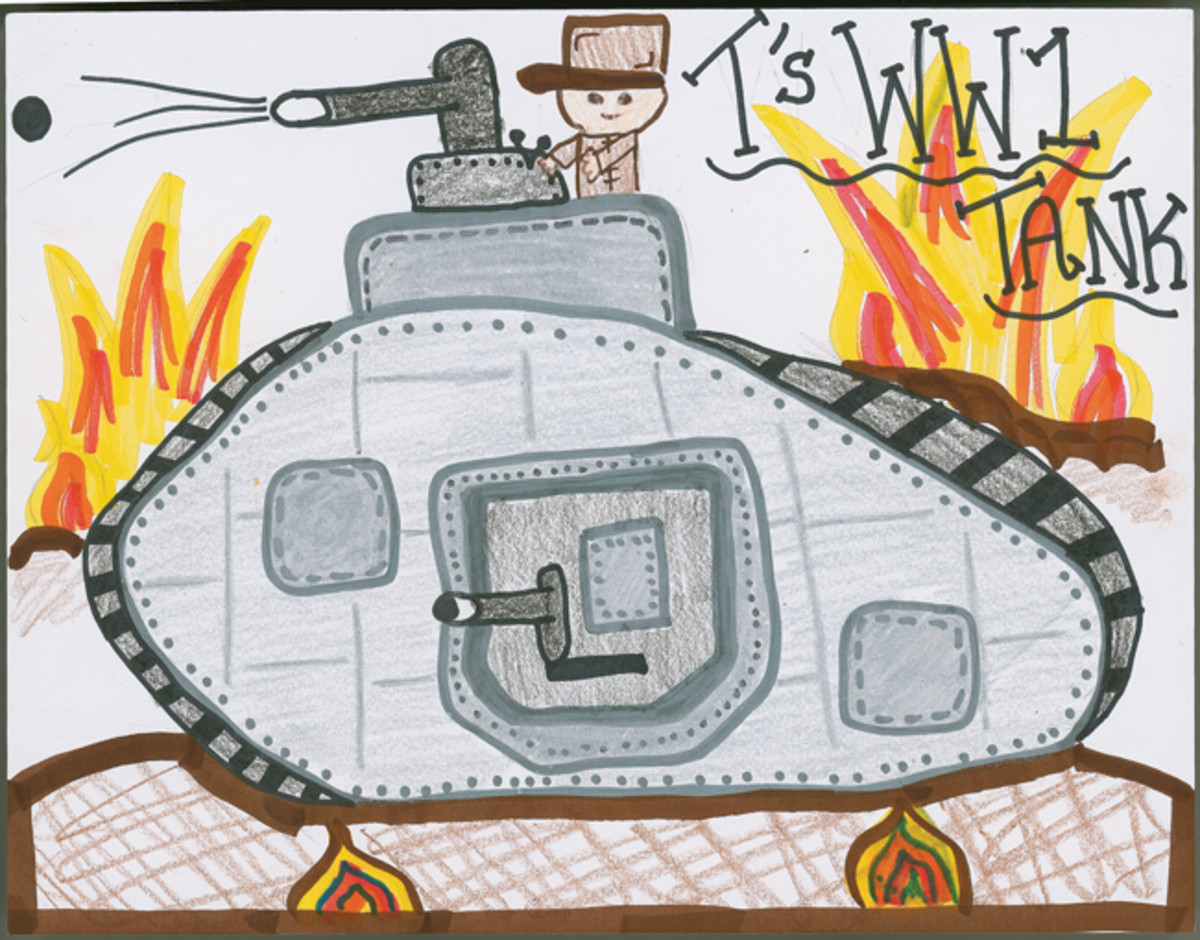 """T's WWI Tank,"" by Trinity Yank, 6th Grade"