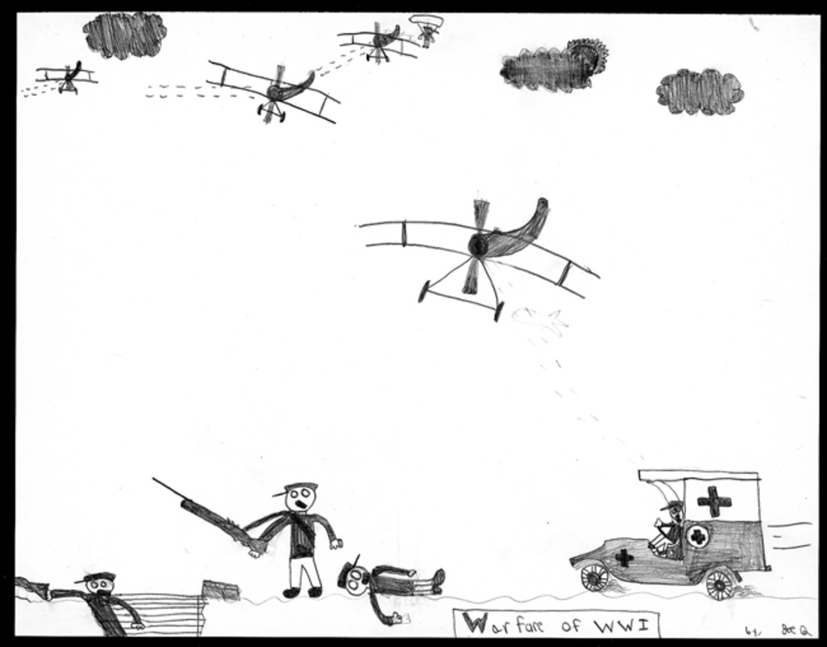 """Warfare of WWI,"" by Joe Quisler, Sixth Grade."