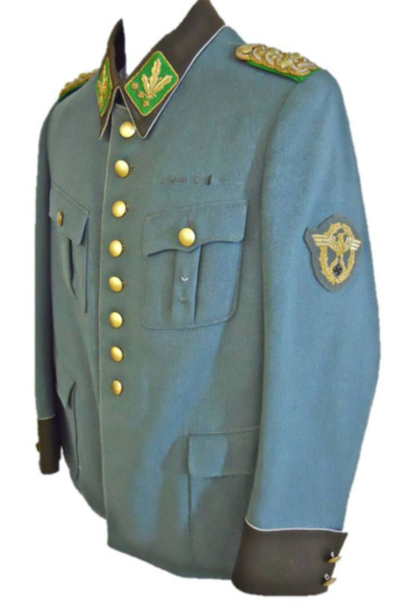 Worn by Arthur Mulverstadt (1894-1941), the latter having gained the dubious notoriety of becoming the first SS General to be killed in action during World War II.