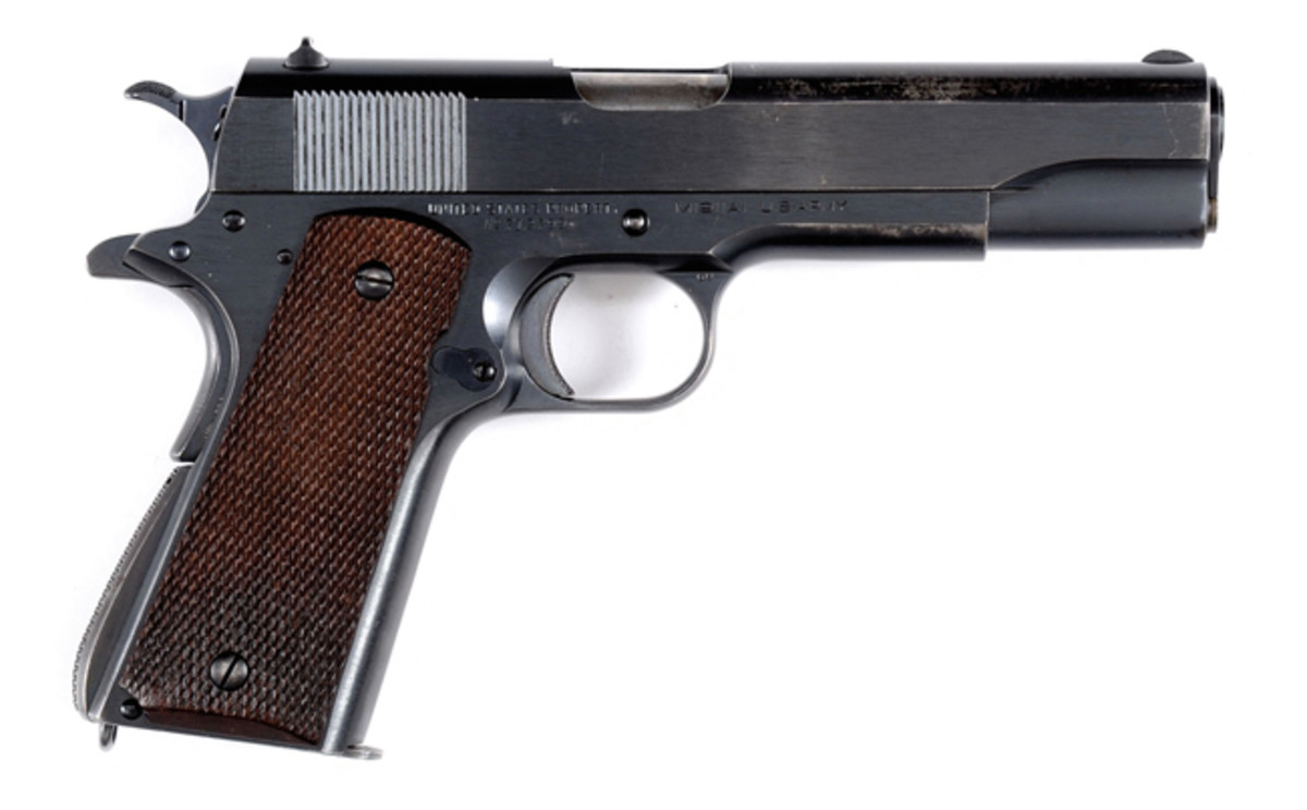 Rare and Fine Colt 1911 A-1 Military production of 1938, from a fine single owner collection of military arms; estimated at $3,000-4,000, sold for $51,750.
